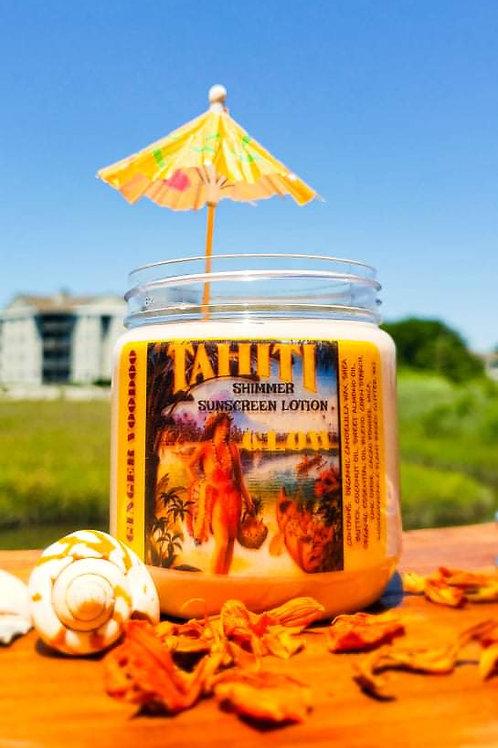 """""""Tahiti Glow"""" Shimmer Sunblock  (SPF 20) 4oz"""
