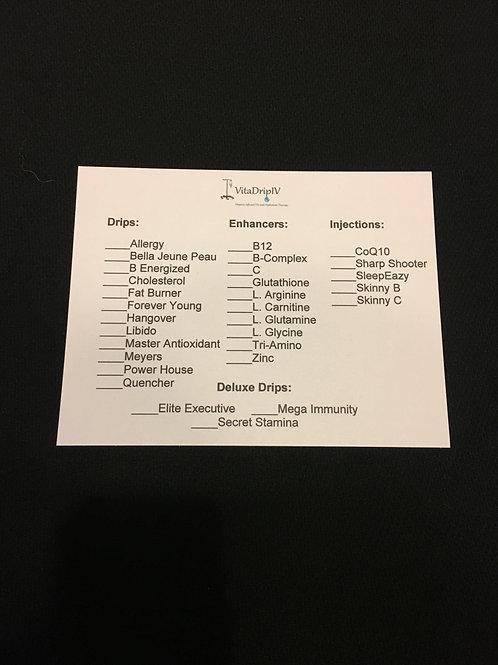 IV Cards (250)
