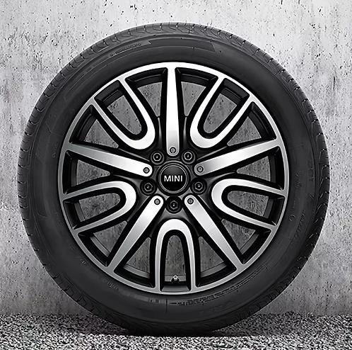 Комплект летних оригинальных колес JCW Black Thrill Spoke 529