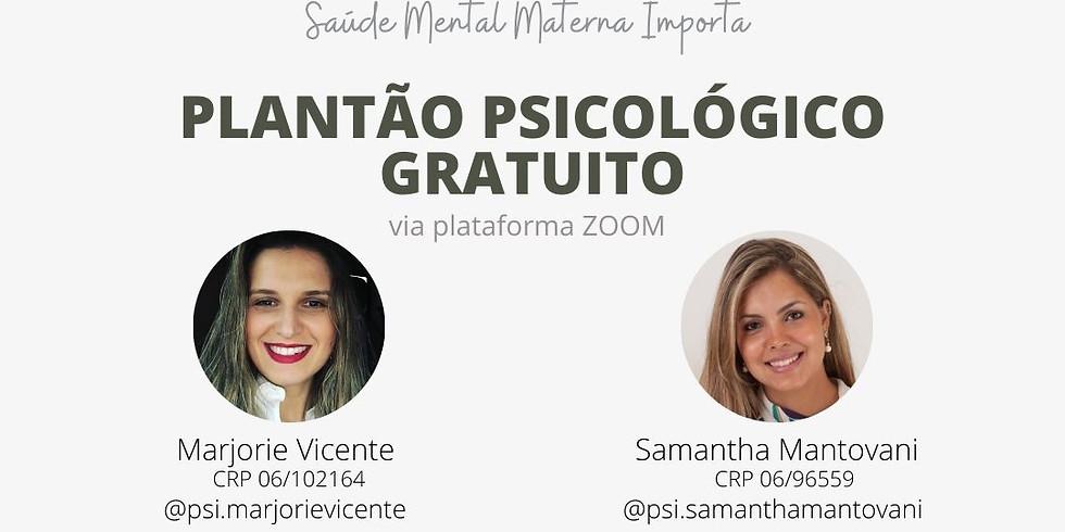 PLANTÃO PSICOLÓGICO GRATUITO
