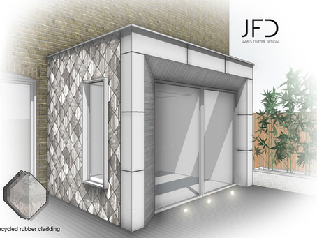 JFD become first practice in the UK to specify sustainable, up-cycled rubber cladding!