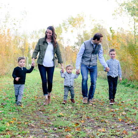 the kelly family   fall family portrait session   lakeville, mn