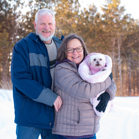 the smith family   winter family portrait session   lakeville, mn