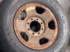 Before, rusty wheel