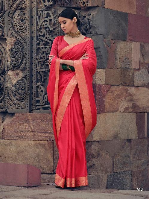 Savitri Shades Vichitra Silk Pink Saree