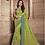 Thumbnail: Joh Rivaaz Designer V-II Yellow-Green Exclusive Saree - 4503