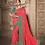 Thumbnail: Joh Rivaaz Designer V-II Beautiful-Red-Pink Exclusive Saree - 4510
