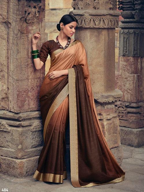 Savitri Shades Vichitra Silk Brown Saree