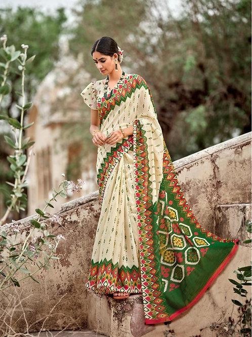 Nivrata Cotton Silk Saree Green