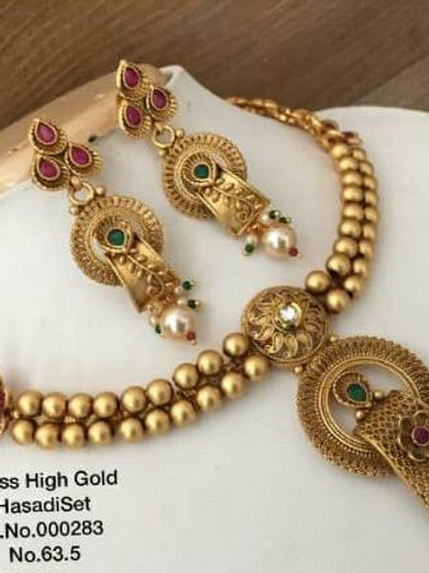 Brass High Gold Necklace D.No.00283