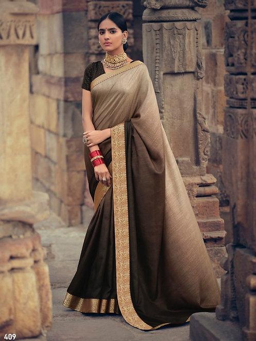 Savitri Shades Vichitra Silk Olive Saree