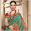 Thumbnail: Joh Rivaaz Designer V-II Exotic-Turcois Exclusive Saree - 4511