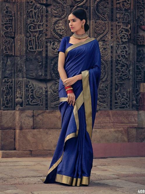 Savitri Shades Vichitra Silk Blue Saree