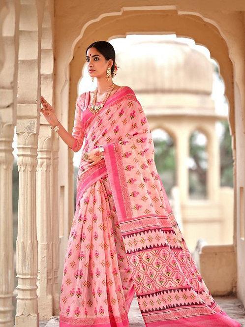 Nivrata Cotton Silk Saree Baby Pink
