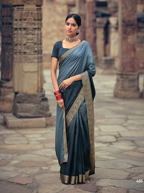 Savitri Shades Vichitra Silk Grey Saree