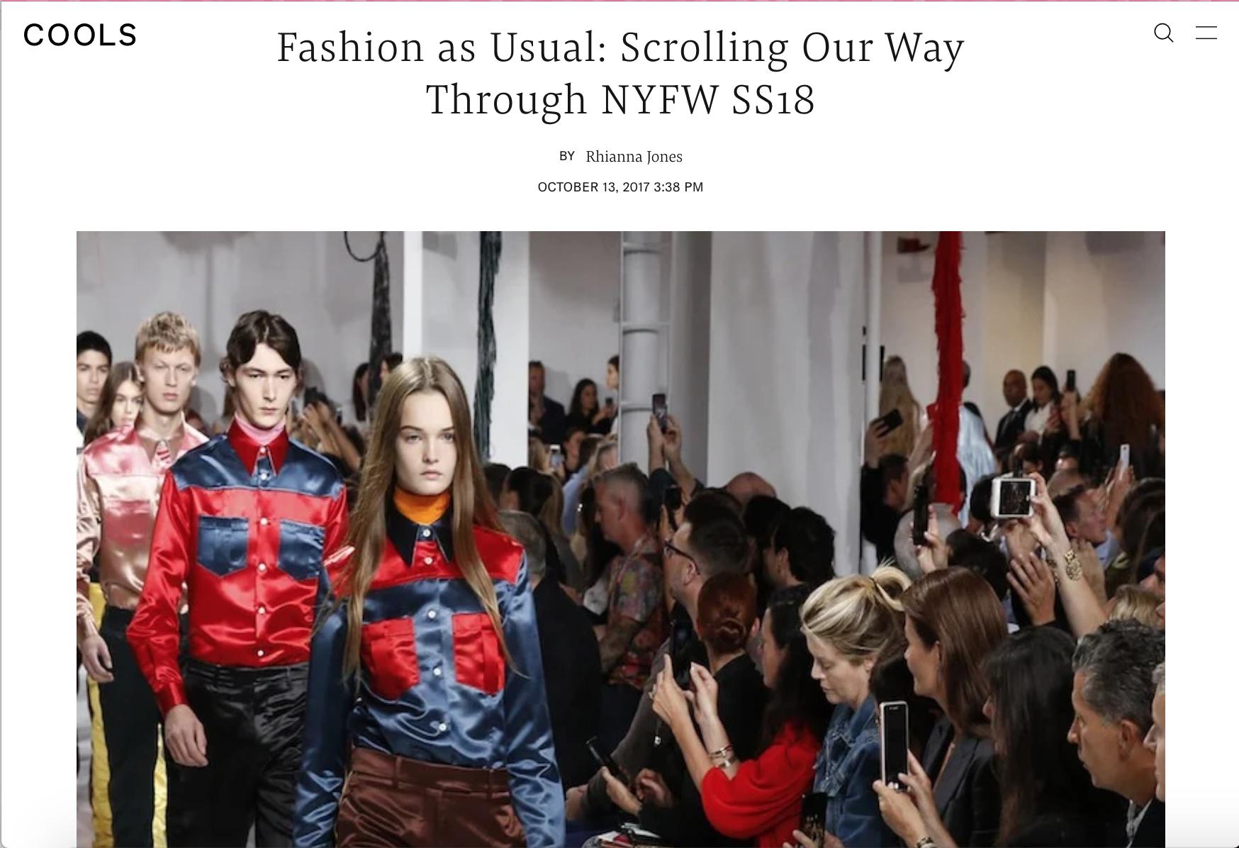 Fashion Week Recap | Cools