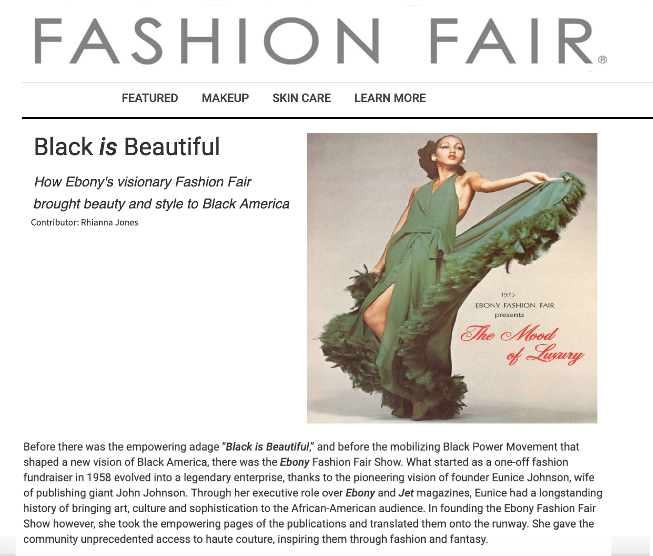 Fashion Fair | Black is Beautiful