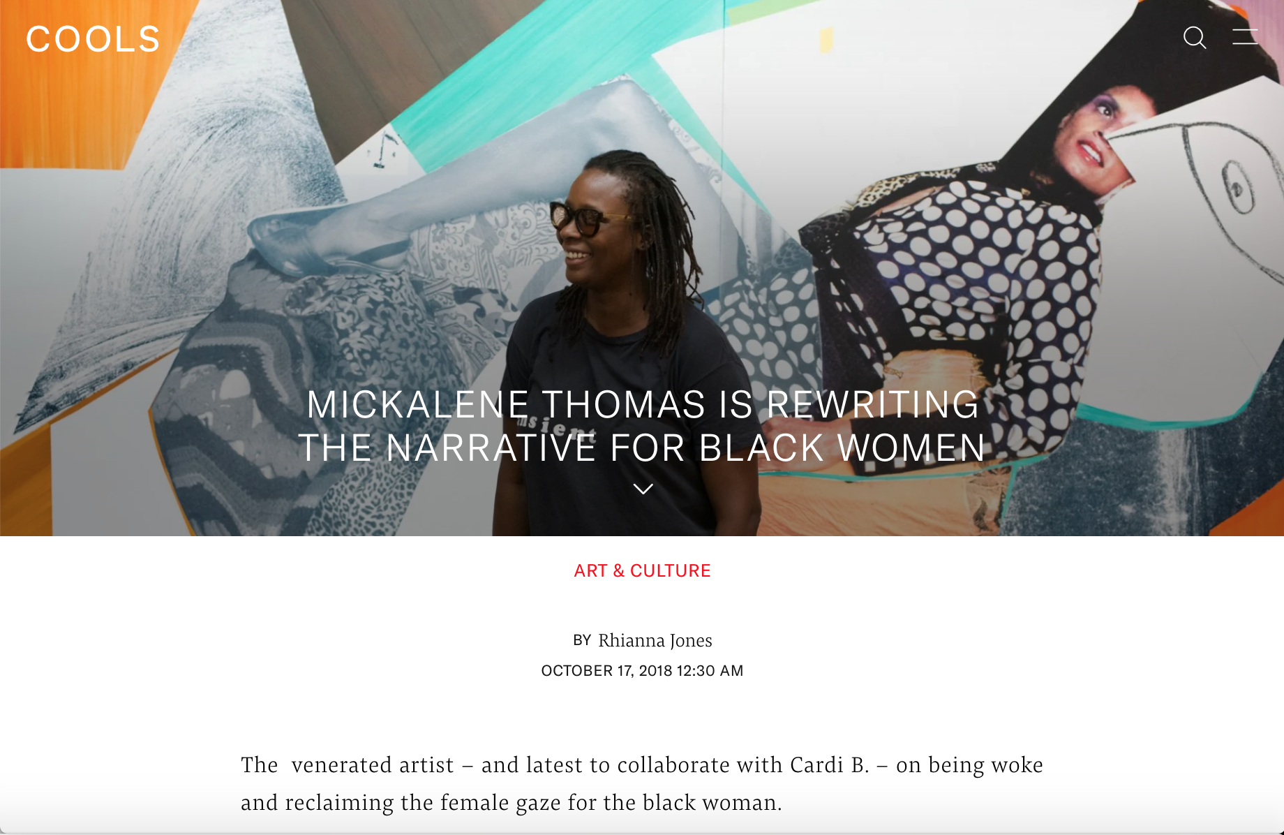 Mickalene Thomas | COOLS