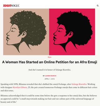 Teen Vogue Afromoji Story