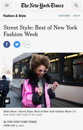 NYT Best of Street Style