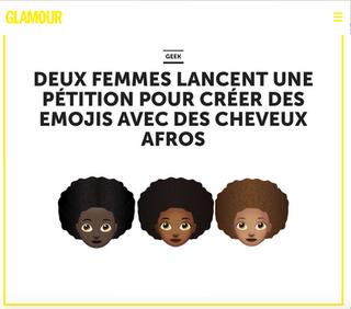 Glamour France Afro Emoji