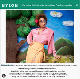 Nylon Sustainable Fashion Advocacy