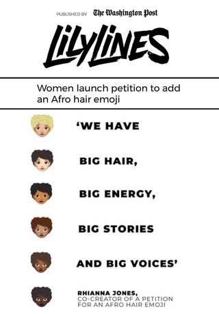 Lily Lines - Afro hair emoji