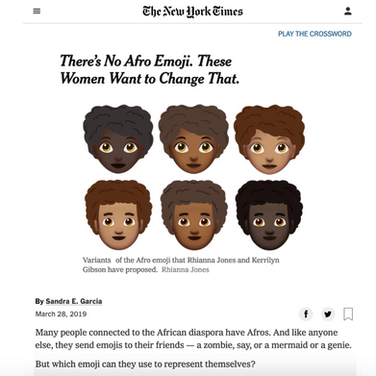 NYT Afro Hair Emoji Article