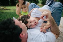ensaio de familia no parque pai e filho