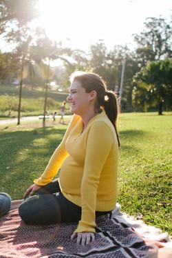 ensaio gestante no parque