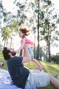 ensaio de familia no parque pai e filha
