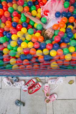 festa infantil em casa piscina de bolinha
