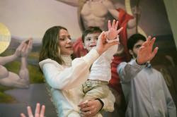batizado abençoando
