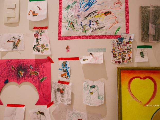 pequenas histórias · a parede da artista