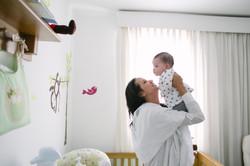 ensaio bebê em casa