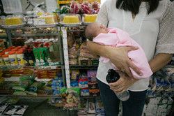 primeiro passeio do bebê padaria
