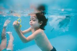 festa infantil em casa piscina