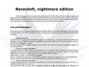 Ravenloft, nightmare edition