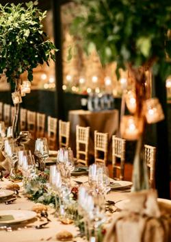 Mesas de bodas y eventos en la montaña