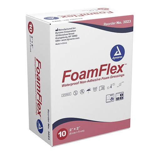 FoamFlex Non-Adhesive Waterproof Foam Dressings