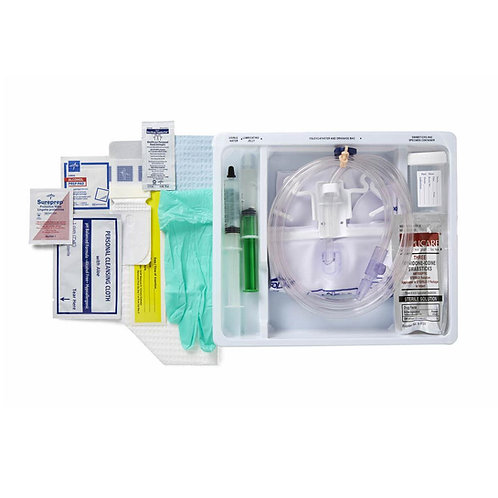 Total One-Layer Add-A-Cath Tray with Drain Bag and Peri Wipe