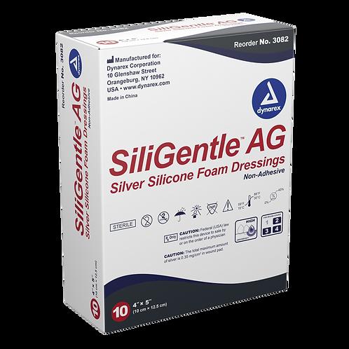 SiliGentle AG Silver Silicone Foam Dressing