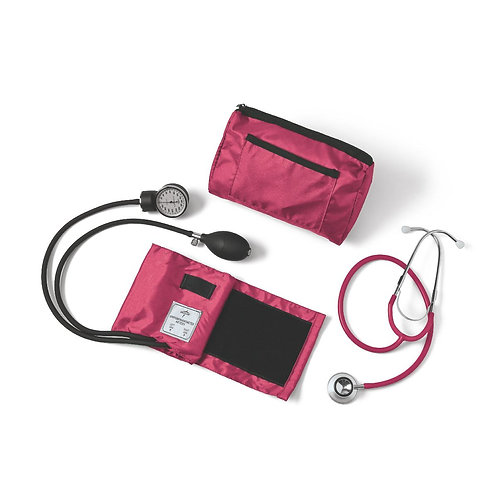 Dual-Head Stethoscope and Blood Pressure Combo Kit
