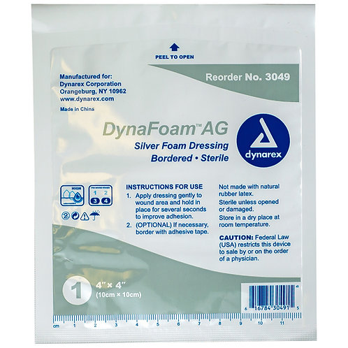 Foam AG Bordered Silver Foam Dressings