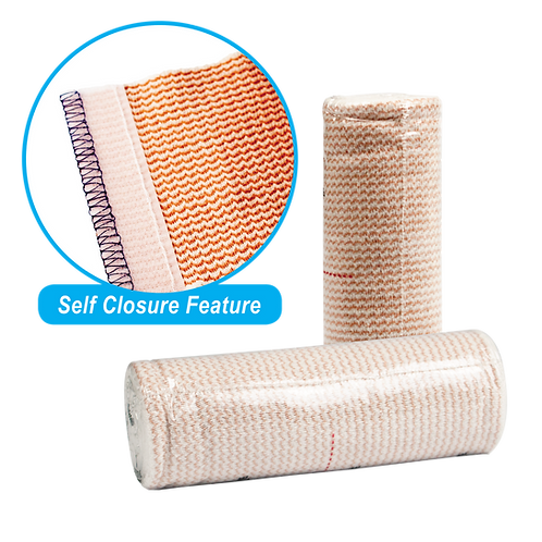 Elastic Bandages with Self Closure