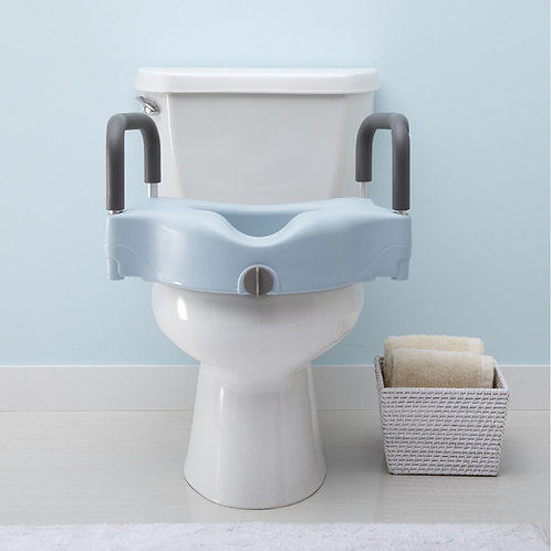 Locking Elevated Toilet Seat with Microban