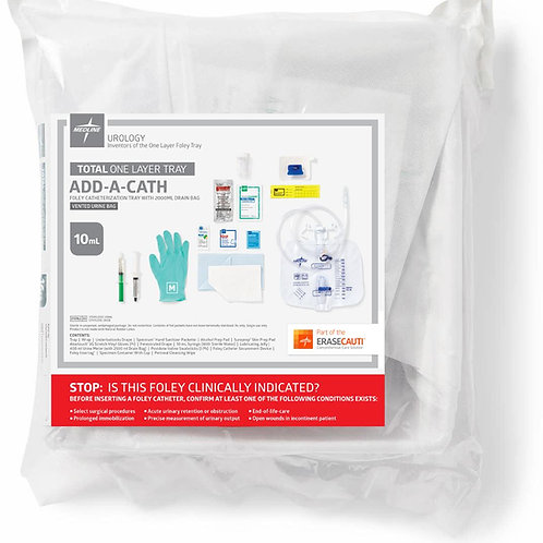 Add-A-Cath 1-Layer Foley Catheter Tray with Vented Urine Bag