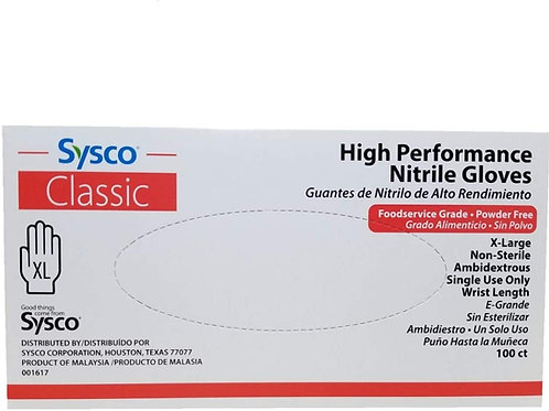 Sysco Classic Nitrile Gloves