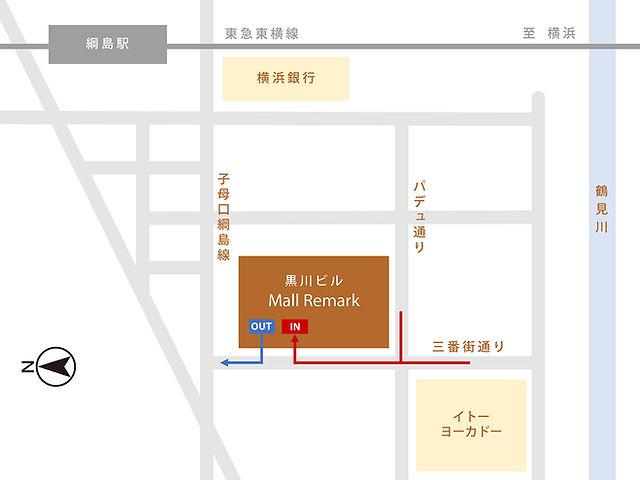 黒川ビルモールリマーク月極駐車場立体駐車場地図