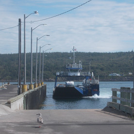 The ferry arriving in Tiverton, Long Island